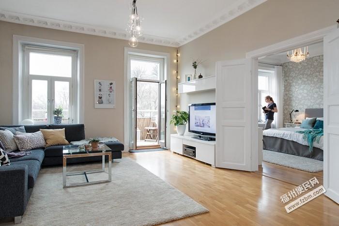 北歐風格小戶型客廳裝修效果圖-福州便民網