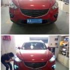 福州CX-5车灯改装透镜氙气灯勺子日行灯灯峰造极专业改