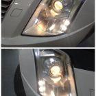 福州改灯 凯迪拉克SRX车灯升级双光透镜氙气灯案例