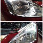 福州灯峰造极改灯 日产骐达车灯升级双光透镜氙气灯
