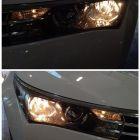 福州丰田卡罗拉改灯,大灯改装双光透镜氙气灯