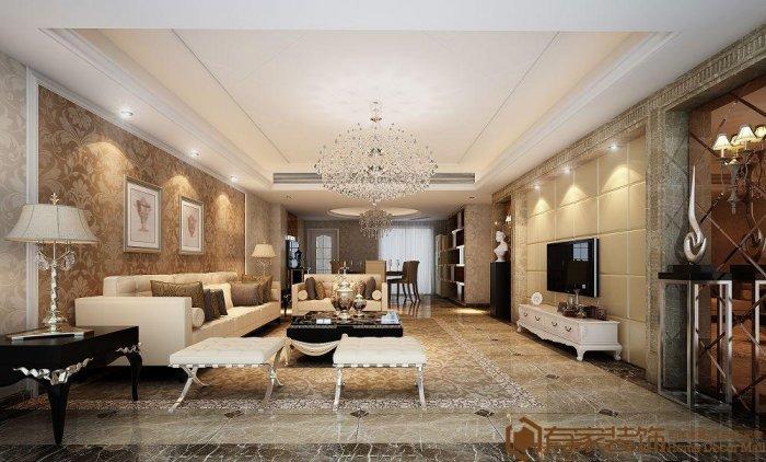 福州四室三厅欧式现代黄色装修效果图 福州四室三厅欧式现代黄色装修效果图 2013图片