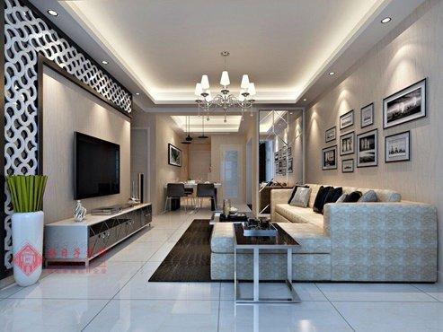 福州客厅四室二厅欧式现代白色装修效果图 福州客厅四室二厅欧式现代白色装修效果图 2013图片