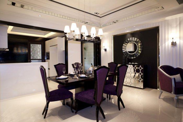 福州三室二厅欧式现代黑色装修效果图