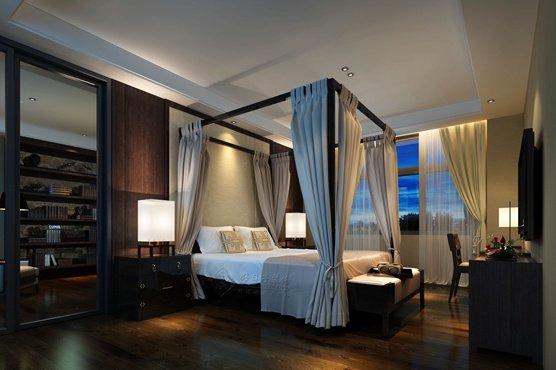 福州卧室五室三厅欧式现代棕色装修效果图 福州卧室五室三厅欧式现代棕色装修效果图 2013图片