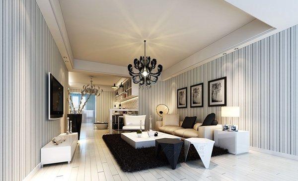 福州客厅三室二厅欧式现代白色装修效果图 福州客厅三室二厅欧式现代白色装修效果图 2013图片