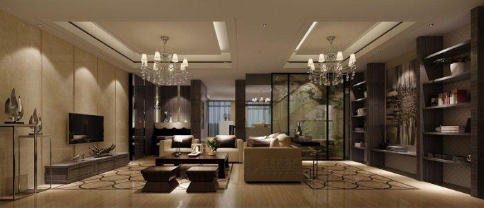 福州四室二厅中式现代棕色装修效果图 福州四室二厅中式现代棕色装修效果图 2013图片