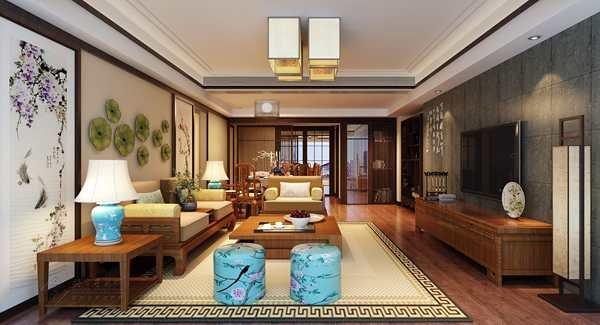 福州客厅三室三厅中式现代灰色装修效果图 福州客厅三室三厅中式现代灰色装修效果图 2013图片