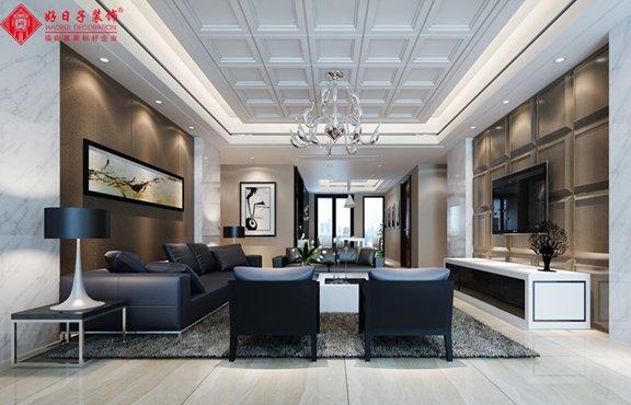 融侨外滩6#四室三厅-欧式现代装修效果图-福州三色