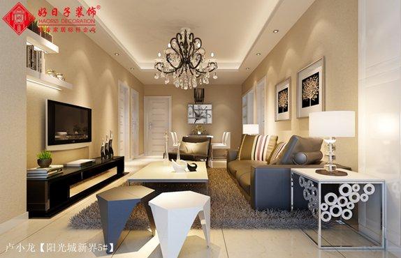 福州客厅三室二厅简约时尚白色装修效果图 福州客厅三室二厅简约时尚白色装修效果图 2013图片