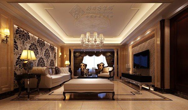福州客厅五室二厅欧式现代棕色装修效果图
