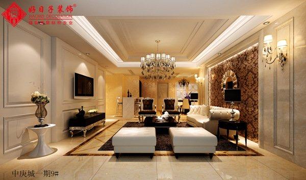 福州客厅三室二厅欧式现代黄色装修效果图 福州客厅三室二厅欧式现代黄色装修效果图 2013图片