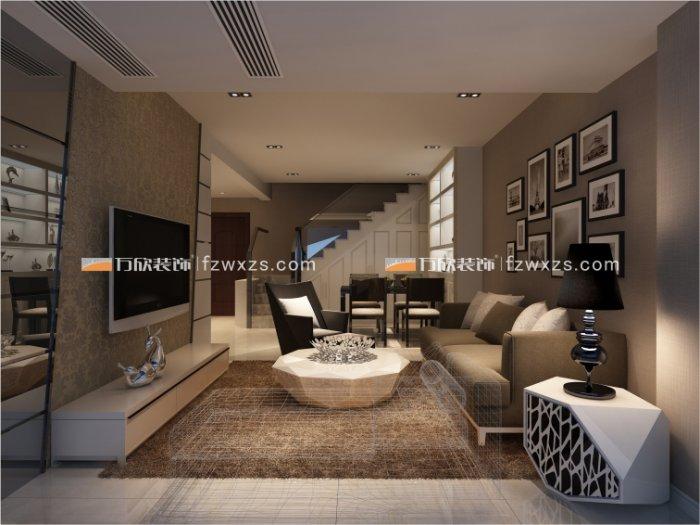 福州客厅三室一厅简约时尚棕色装修效果图 福州客厅三室一厅简约时尚棕色装修效果图 2013图片