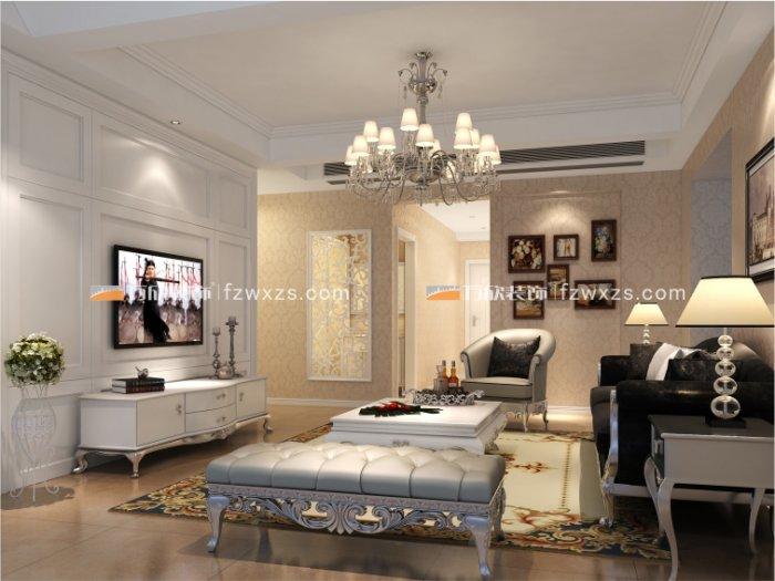 福州二室一厅欧式现代白色装修效果图