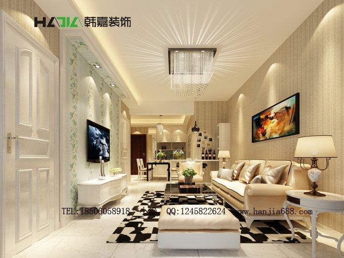 福州客厅二室二厅简约时尚白色装修效果图 福州客厅二室二厅简约时尚白色装修效果图 2013图片