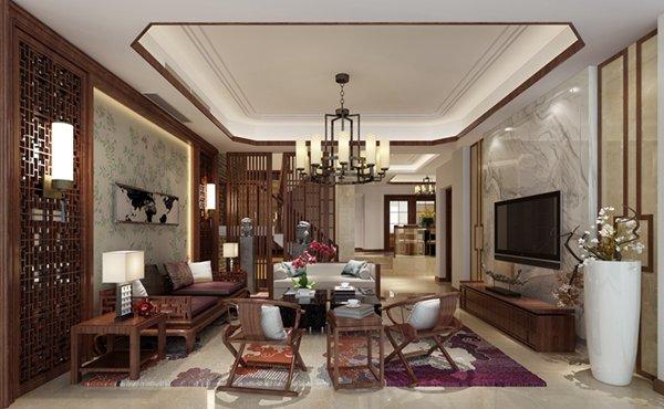福州三室二厅中式现代橙色装修效果图 福州三室二厅中式现代橙色装修效果图 2013图片
