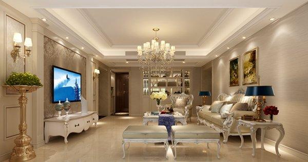 福州四室二厅欧式现代黄色装修效果图 福州四室二厅欧式现代黄色装修效果图 2013图片