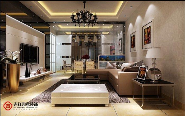 福州客厅四室二厅欧式现代黄色装修效果图 福州客厅四室二厅欧式现代黄色装修效果图 2013图片