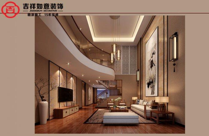 福州五室三厅中式现代棕色装修效果图 福州五室三厅中式现代棕色装修效果图 2013图片