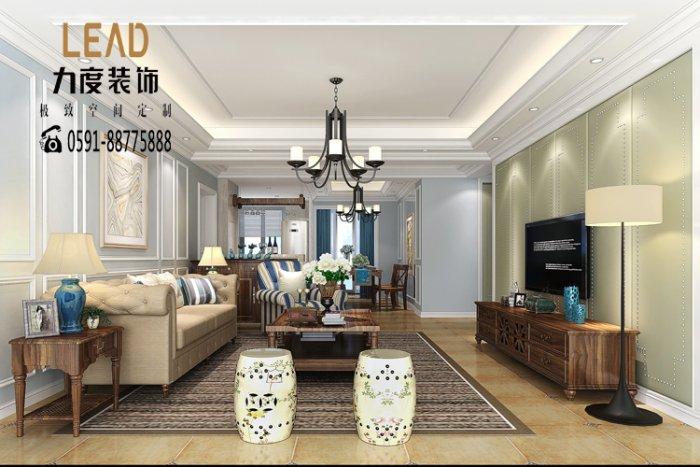 福州三室二厅美式风格灰色装修效果图 福州三室二厅美式风格灰色装修效果图 2013图片