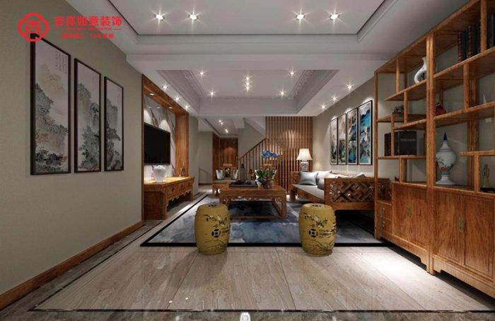 福州四室三厅中式现代棕色装修效果图 福州四室三厅中式现代棕色装修效果图 2013图片