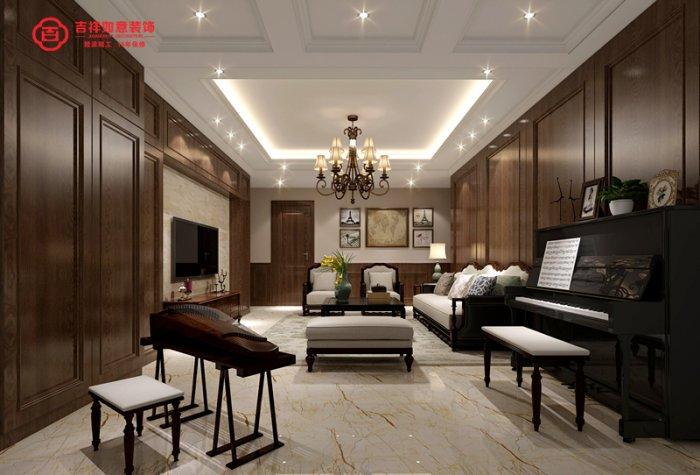 福州三室二厅美式风格棕色装修效果图 福州三室二厅美式风格棕色装修效果图 2013图片