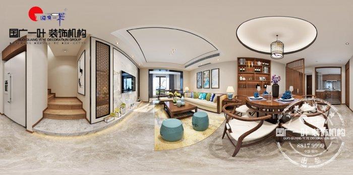 福州三室二厅中式现代棕色装修效果图 福州三室二厅中式现代棕色装修效果图 2013图片