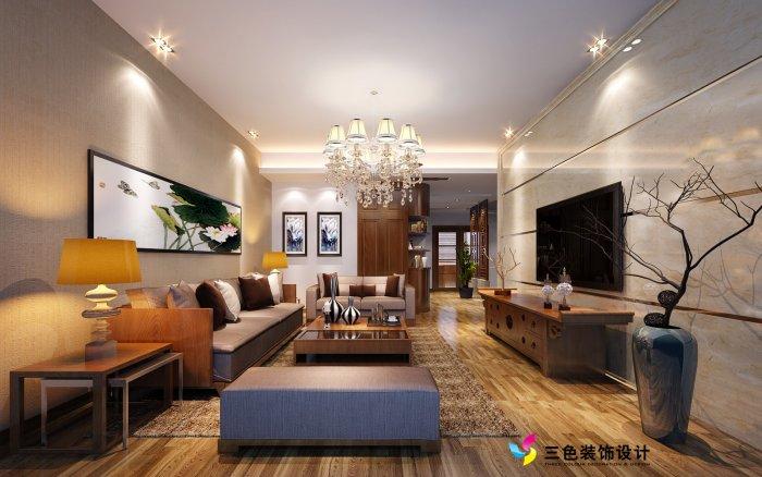 福州客厅三室二厅其他风格红色装修效果图_01 福州客厅三室二厅其他